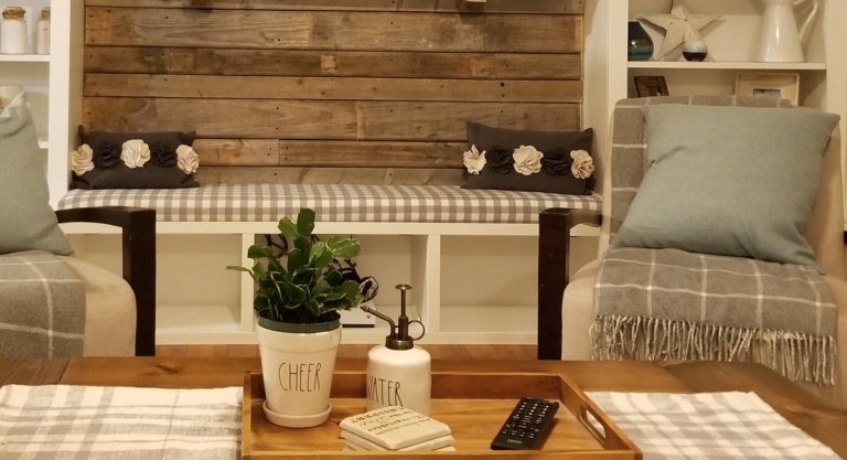 Easy No Sew Farmhouse Style Bench Cushion With Mdf And High Density Foam Archives Littleblossomroad